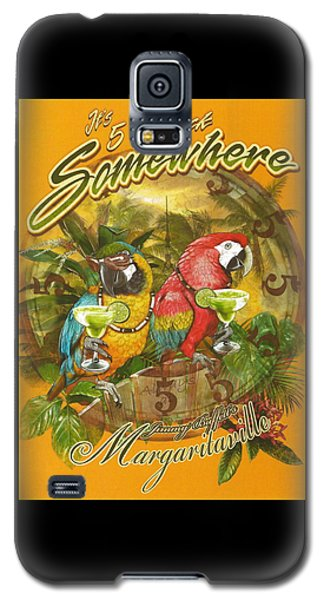 Parrot Galaxy S5 Case - It's 5 O'clock Somewhere by Desiderata Gallery