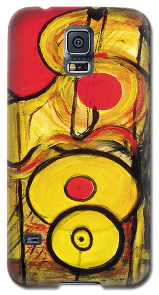 Galaxy S5 Case featuring the painting It's All Relative by Stephen Lucas