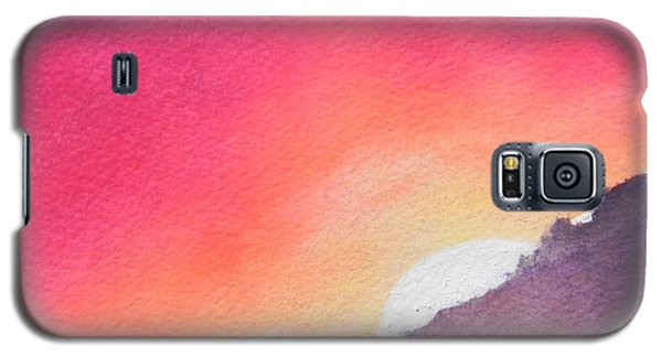 Galaxy S5 Case featuring the painting It's Not About The Climb  Rather What Awaits You On The Other Side by Chrisann Ellis