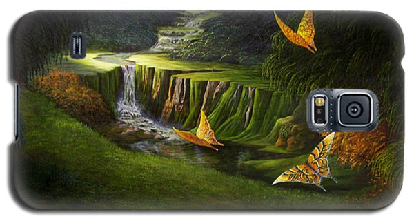 Galaxy S5 Case featuring the painting Peaceful by Loxi Sibley