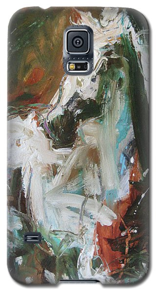 Galaxy S5 Case featuring the painting Ivory by Robert Joyner