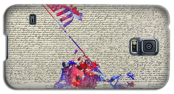 Galaxy S5 Case featuring the digital art Iwo Jima Declaration Of Freedom by Patricia Lintner