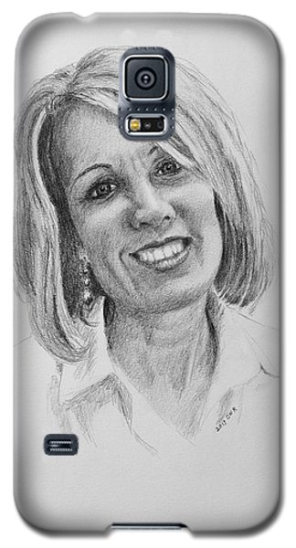 Galaxy S5 Case featuring the drawing J by Daniel Reed
