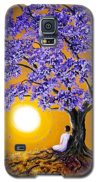 Jacaranda Sunset Meditation Galaxy S5 Case