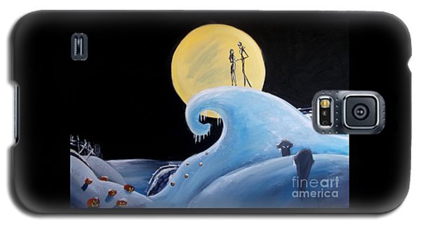 Jack And Sally Snowy Hill Galaxy S5 Case by Marisela Mungia