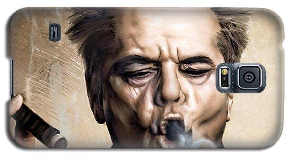 Jack Nicholson Galaxy S5 Case by Andrzej Szczerski