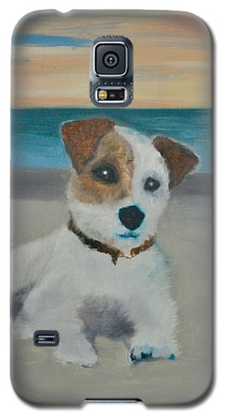 Galaxy S5 Case featuring the painting Jack On The Beach by Kristen R Kennedy