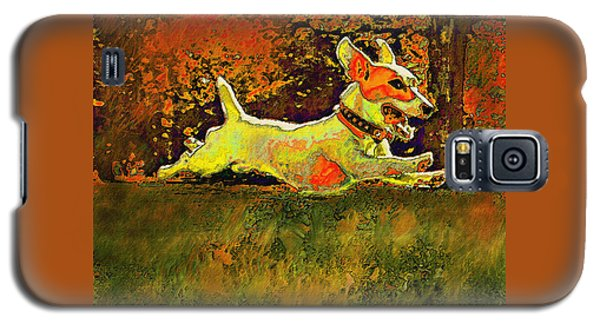 Jack Russell In Autumn Galaxy S5 Case