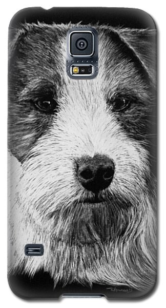 Galaxy S5 Case featuring the drawing Jack Russell Terrier - Rough Coat by Rachel Hames