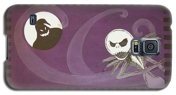 Galaxy S5 Case featuring the painting Jack Skellington With The Oggie Boogie Floor Cloth 2012 by Cindy Micklos