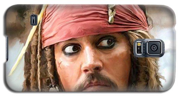 Jack Sparrow Galaxy S5 Case by Paul Tagliamonte