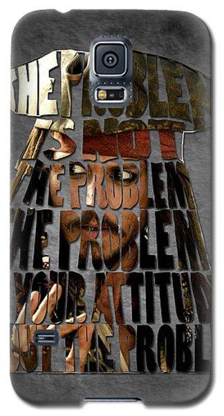 Jack Sparrow Quote Portrait Typography Artwork Galaxy S5 Case by Georgeta Blanaru