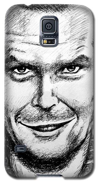 Galaxy S5 Case featuring the drawing Jack Nicholson #2 by Salman Ravish