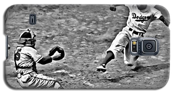 Jackie Robinson Stealing Home Galaxy S5 Case