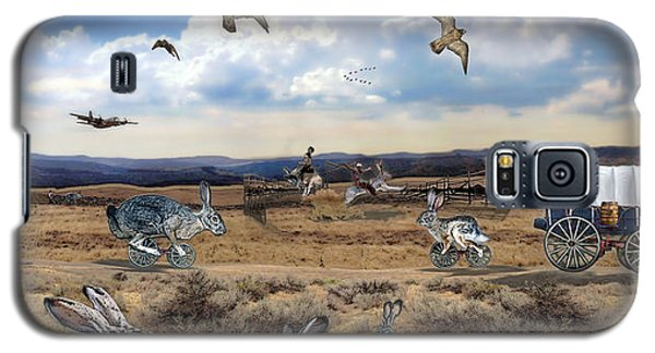 Jackrabbit Juxtaposition  At Owyhee View Galaxy S5 Case by Tarey Potter