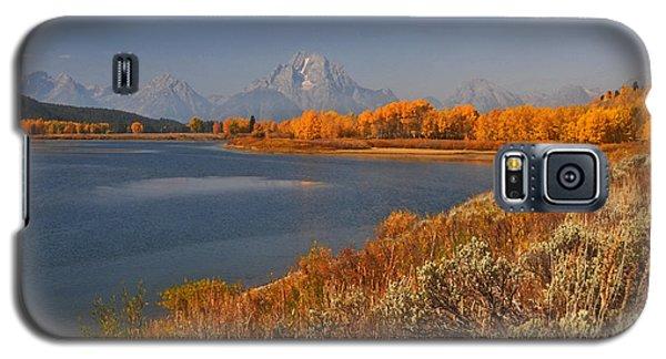 Jackson Lake Orange Shoreline In Autumn Grand Tetons National Park Galaxy S5 Case