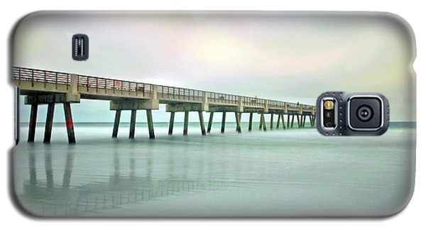 Jacksonville Beach Pier Galaxy S5 Case by Marion Johnson