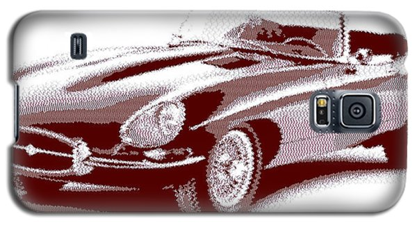 Jaguar E-type - Cross Hatching Galaxy S5 Case