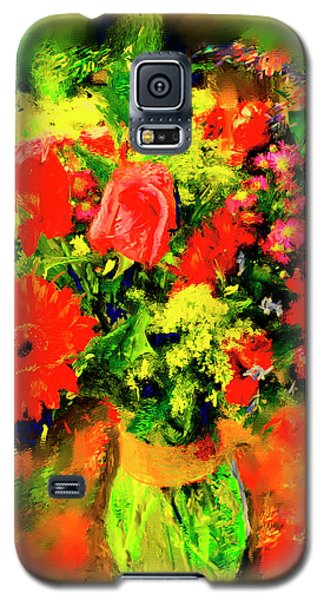 Galaxy S5 Case featuring the painting J'aime Le Bouquet by Ted Azriel