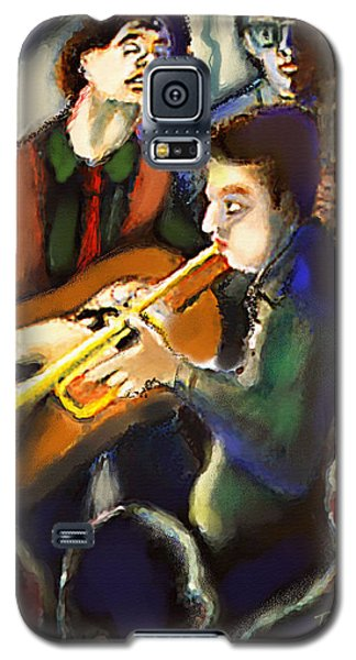 Galaxy S5 Case featuring the digital art Jam Session by Ted Azriel
