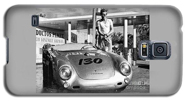 James Dean Filling His Spyder With Gas Black And White Galaxy S5 Case