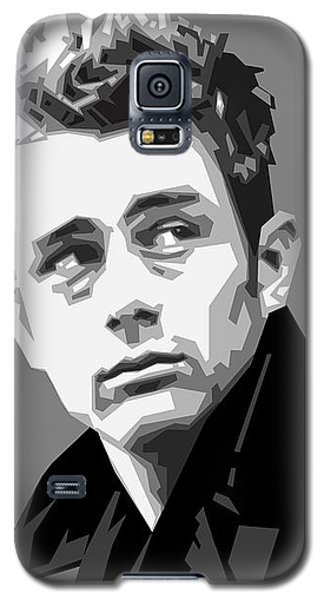 James Dean In Black And White Galaxy S5 Case by Douglas Simonson