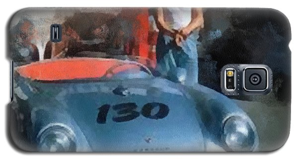 James Dean With His Spyder Galaxy S5 Case