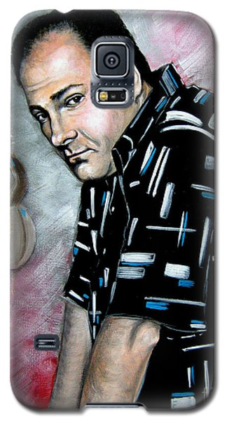 Galaxy S5 Case featuring the painting James Gandolfini As Tony Soprano by Patrice Torrillo