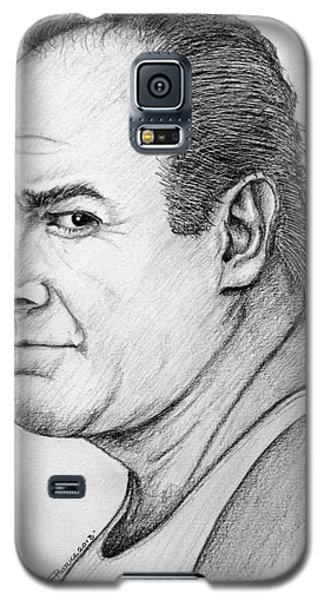 Galaxy S5 Case featuring the drawing James Gandolfini by Patrice Torrillo