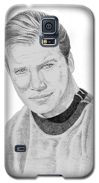 Galaxy S5 Case featuring the drawing James Tiberius Kirk by Thomas J Herring