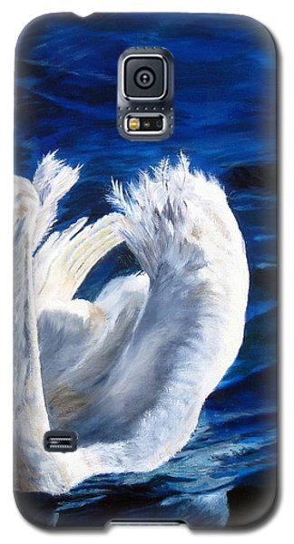Jamie's Swan Galaxy S5 Case by LaVonne Hand