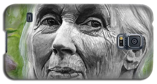 Jane Goodall Galaxy S5 Case by Simon Kregar