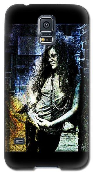 Janis Joplin - Blue Galaxy S5 Case