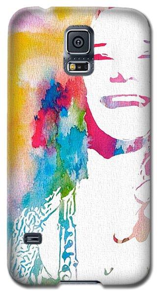 Janis Joplin Watercolor Galaxy S5 Case
