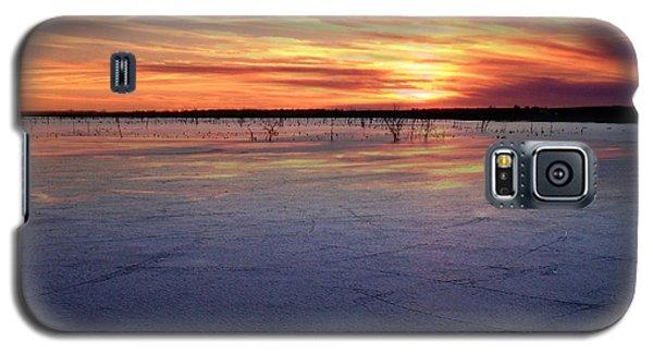 January Sunset At El Dorado Lake Galaxy S5 Case