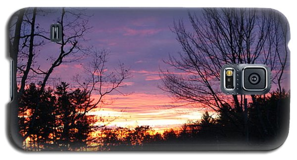 Galaxy S5 Case featuring the photograph January Sunset by Lois Lepisto
