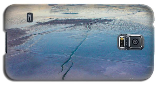 Galaxy S5 Case featuring the photograph January Sunset On A Frozen Lake by Nina Silver