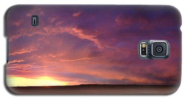 January Sunset With Cold Front Galaxy S5 Case by Rod Seel