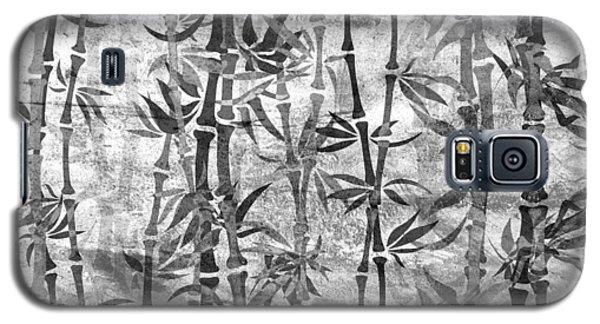 Japanese Bamboo Grunge Black And White Galaxy S5 Case