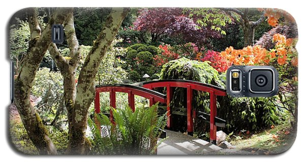 Japanese Garden Bridge With Rhododendrons Galaxy S5 Case