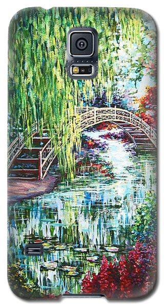 Galaxy S5 Case featuring the painting Japanese Garden by Cheryl Del Toro