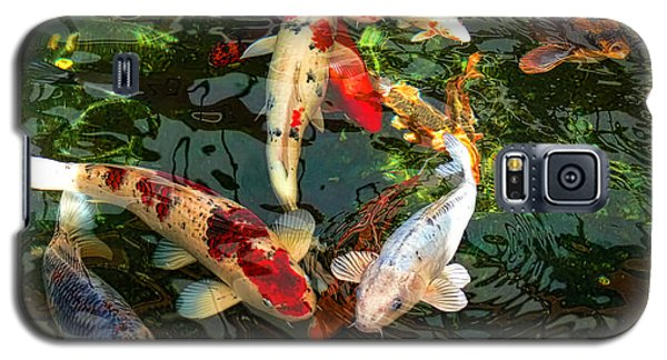 Japanese Koi Fish Pond Galaxy S5 Case by Jennie Marie Schell