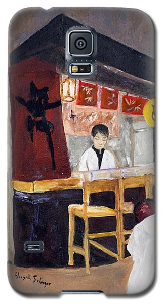 Galaxy S5 Case featuring the painting Japanese Restaurant by Aleezah Selinger