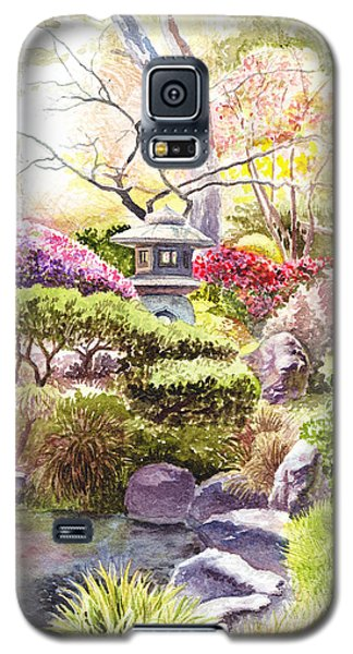 Galaxy S5 Case featuring the painting San Francisco Golden Gate Park Japanese Tea Garden  by Irina Sztukowski
