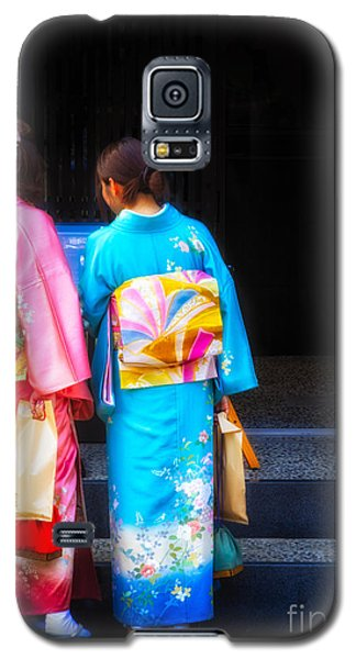 Japanese Women Wearing Beautiful Kimono Galaxy S5 Case