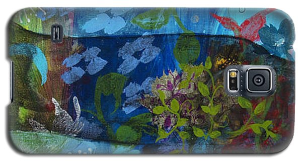 Galaxy S5 Case featuring the painting Jardine Cat by Robin Maria Pedrero