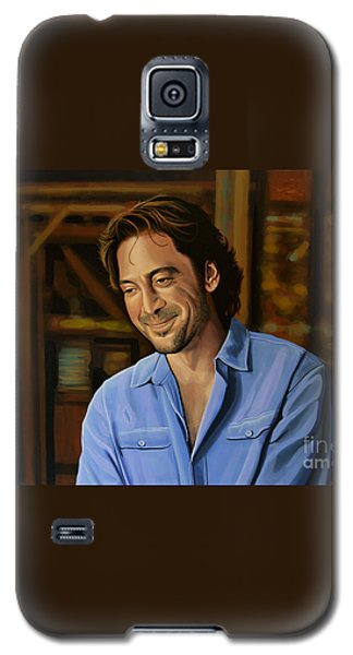 Barcelona Galaxy S5 Case - Javier Bardem Painting by Paul Meijering