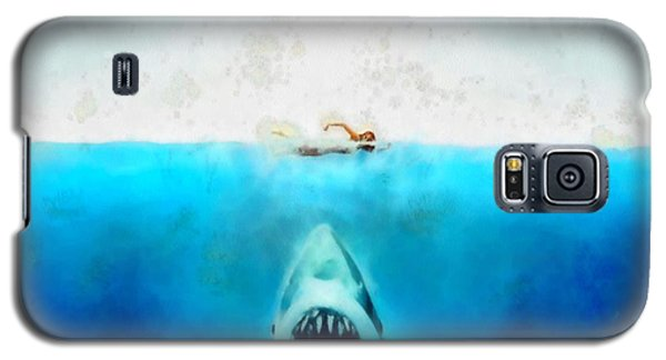 Galaxy S5 Case featuring the painting Jaws by Elizabeth Coats