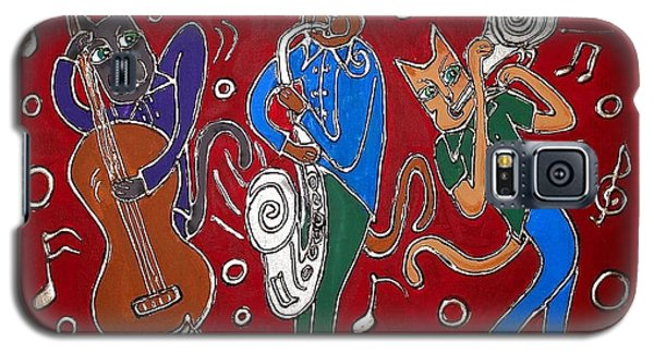 Jazz Cat Trio Galaxy S5 Case