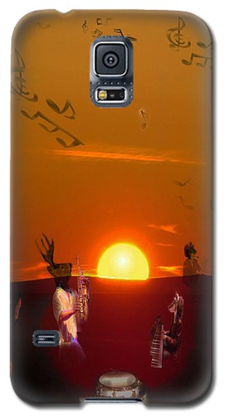 Galaxy S5 Case featuring the digital art Jazz Fest by Cathy Anderson